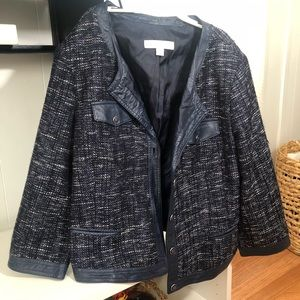 New York & Company Blue patterned jacket Size 12